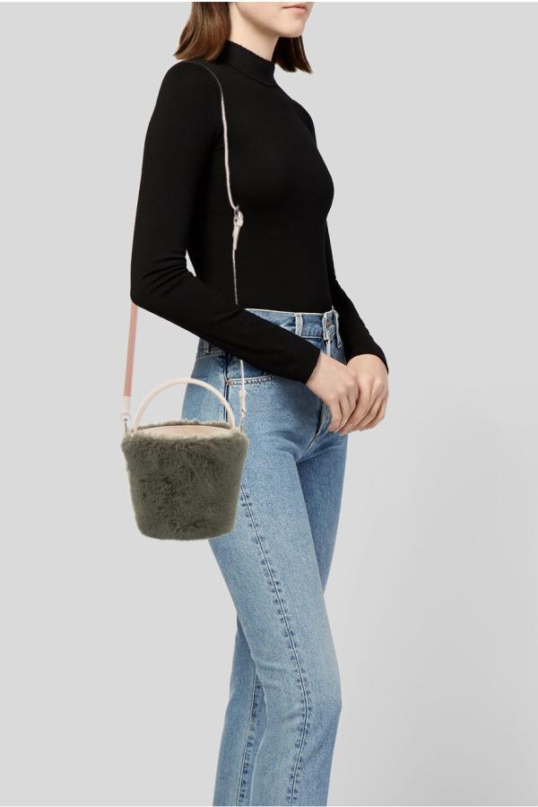 Cafune Mini Basket Bag - Fur
