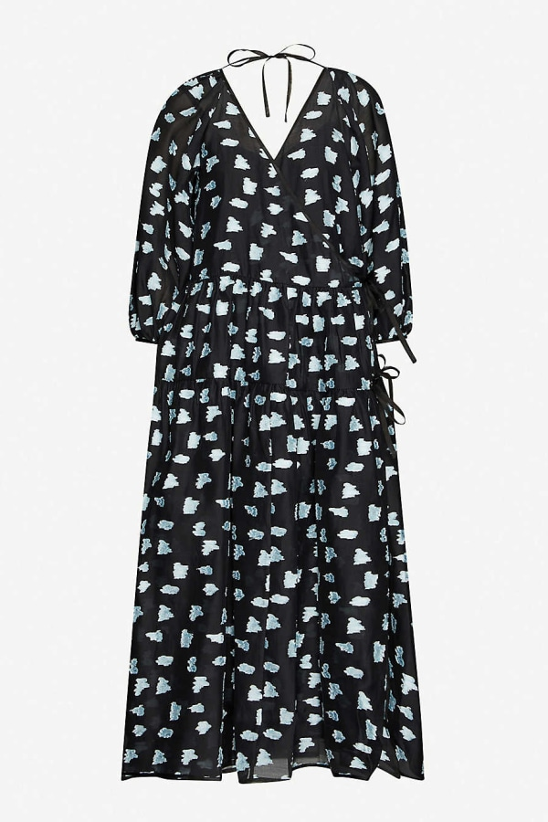 Cecilie Bahnsen Abstract-print crepe dress 0 Preview Images