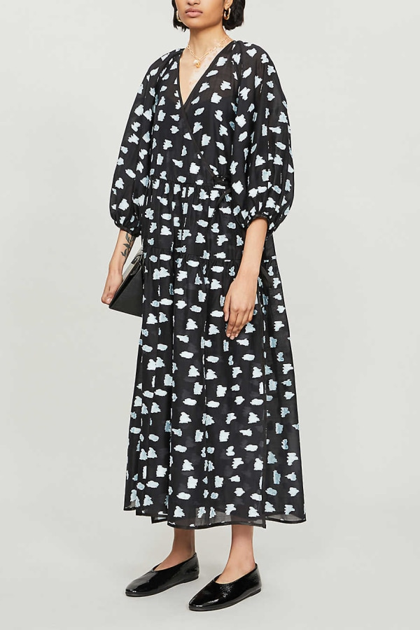 Cecilie Bahnsen Abstract-print crepe dress 1 Preview Images