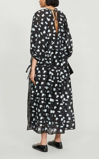 Cecilie Bahnsen Abstract-print crepe dress 4 Preview Images