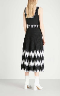 Maje Knitted Geometric Dress 5 Preview Images