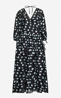 Cecilie Bahnsen Abstract-print crepe dress Preview Images