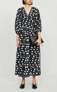 Cecilie Bahnsen Abstract-print crepe dress 5 Preview Images