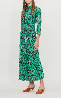 RIXO London Lucy Green Tiger Stripe Dress 2 Preview Images