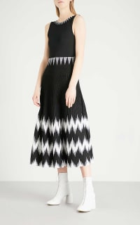 Maje Knitted Geometric Dress 2 Preview Images
