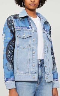 Sandro Printed insert denim jacket 4 Preview Images