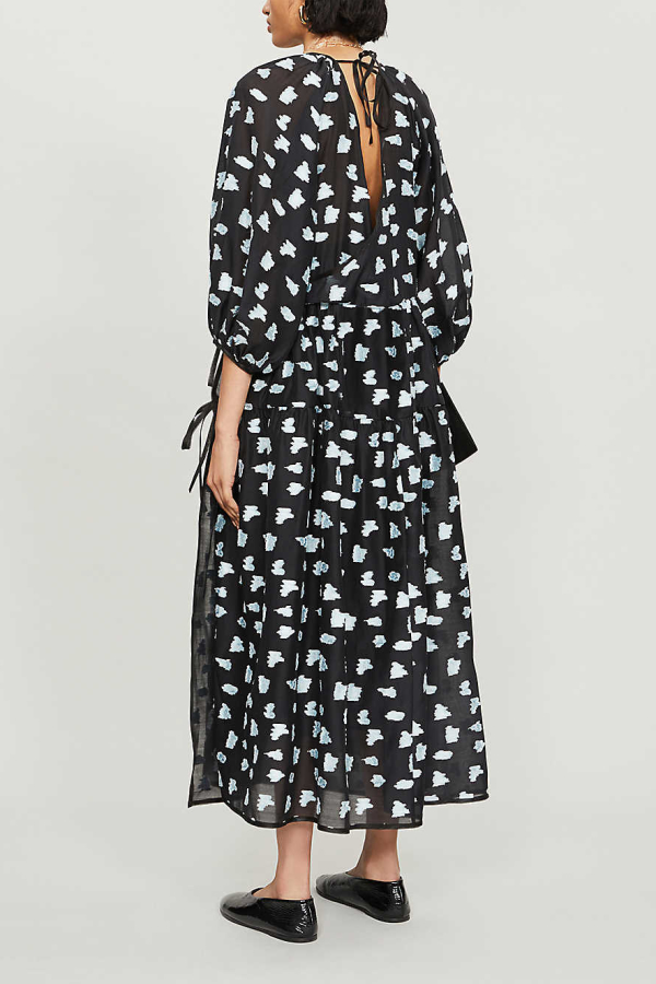 Cecilie Bahnsen Abstract-print crepe dress 4