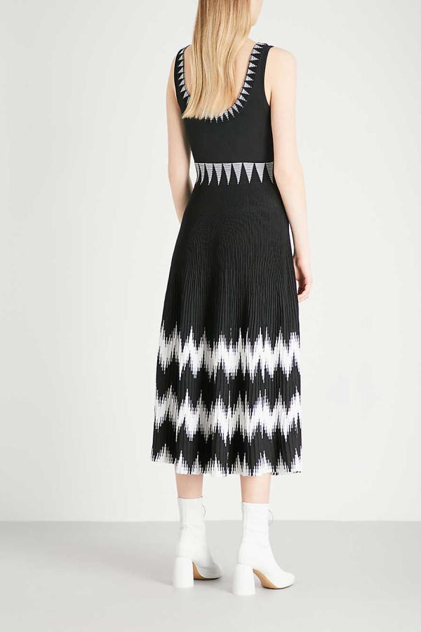 Maje Knitted Geometric Dress 5