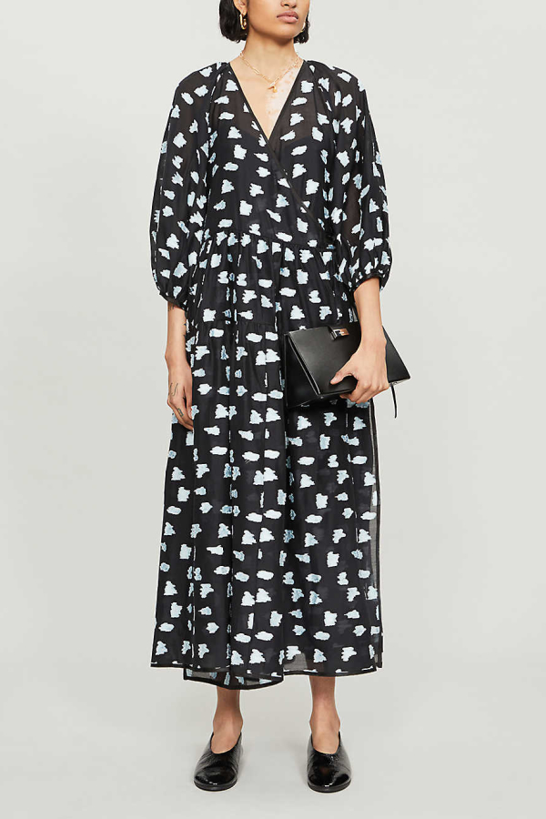 Cecilie Bahnsen Abstract-print crepe dress 5