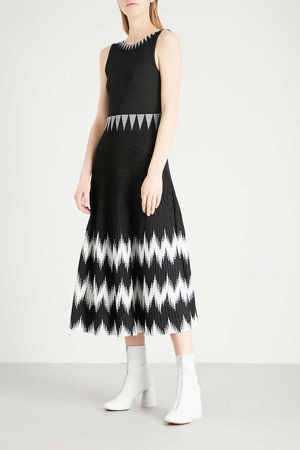 Maje Knitted Geometric Dress 2