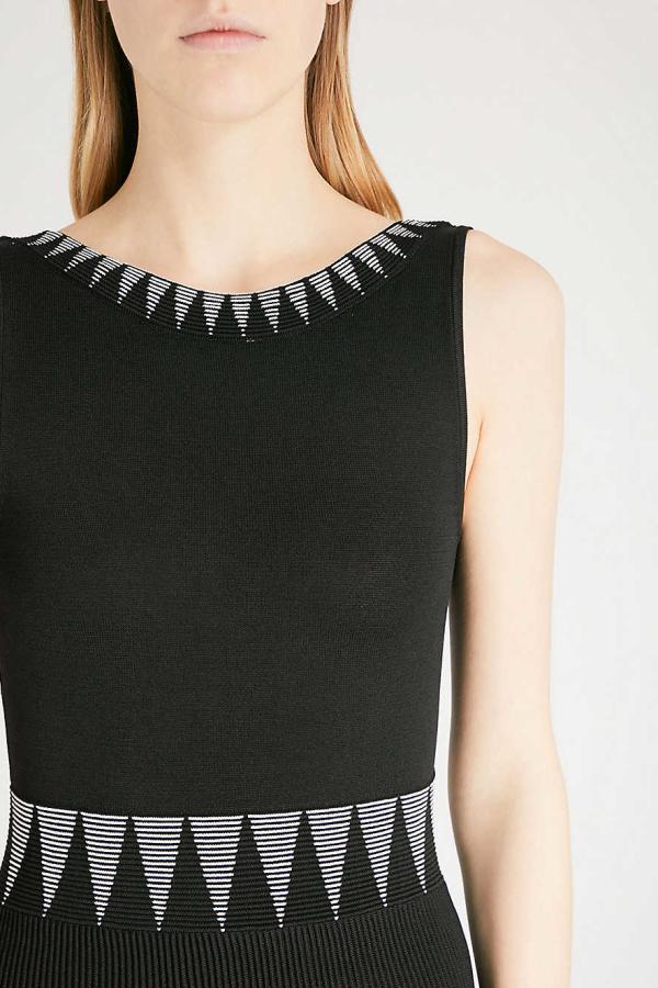 Maje Knitted Geometric Dress 4