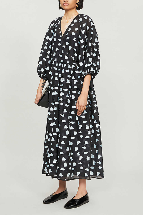 Cecilie Bahnsen Abstract-print crepe dress 2