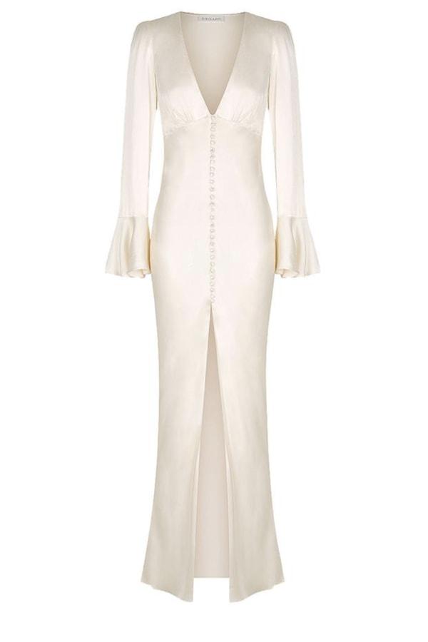 Image 1 of Shona Joy la lune frill cuff midi dress