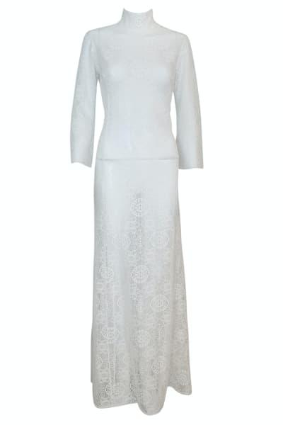 A.W.A.K.E. Lace Maxi Dress