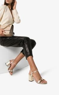 Gucci Metallic laminate sandals 3 Preview Images