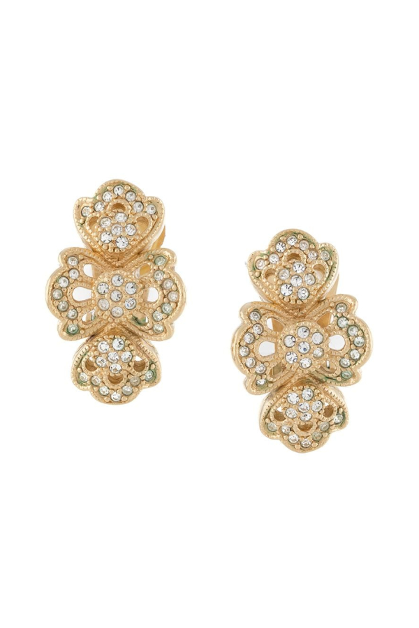 Christian Dior 1980s strass earring 2