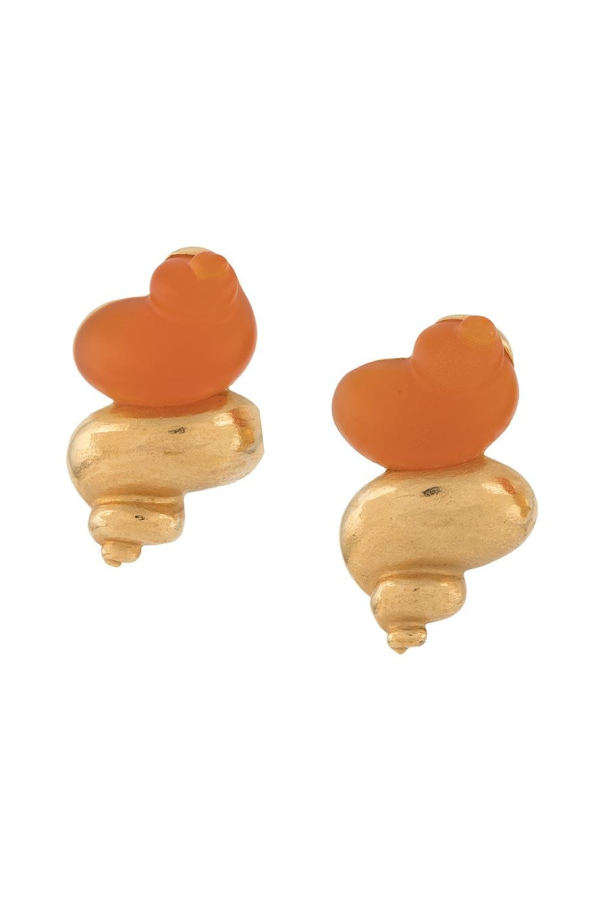 Christian Dior 1990s Shell Earrings 0 Preview Images