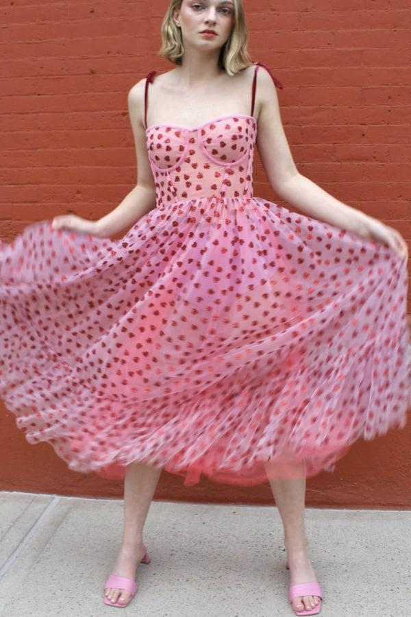Image 3 of Lirika Matoshi hearty corset midi dress