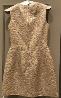 Dolce & Gabbana Metallic Embroidered Faille Dress  5 Preview Images