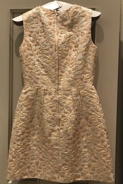 Dolce & Gabbana Metallic Embroidered Faille Dress  5