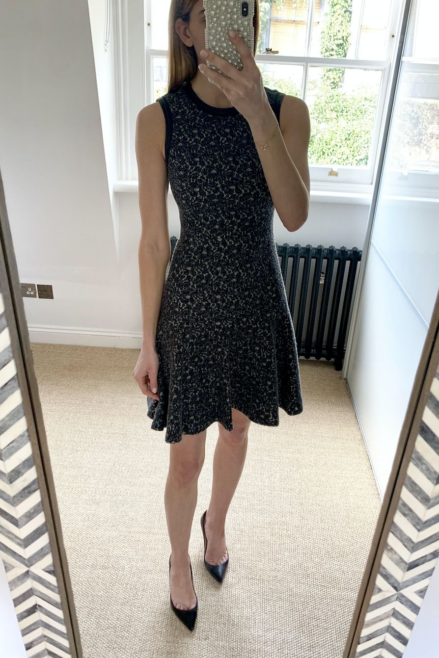 Rebecca Taylor Leather Trimmed Lace Dress 2 Preview Images