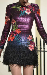 Matthew Williamson Sequin feather dress 5 Preview Images