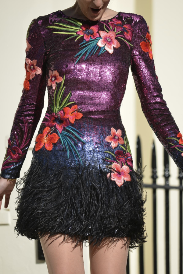 Matthew Williamson Sequin feather dress 5