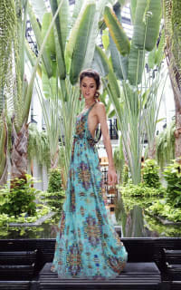 Matthew Williamson Open-back embellished printed silk-chiffon maxi dress 4 Preview Images