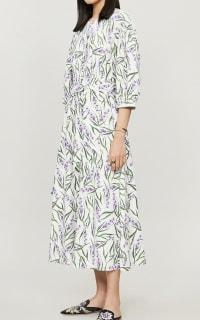 Olivia Rubin Annie Lavender Print Dress 3 Preview Images