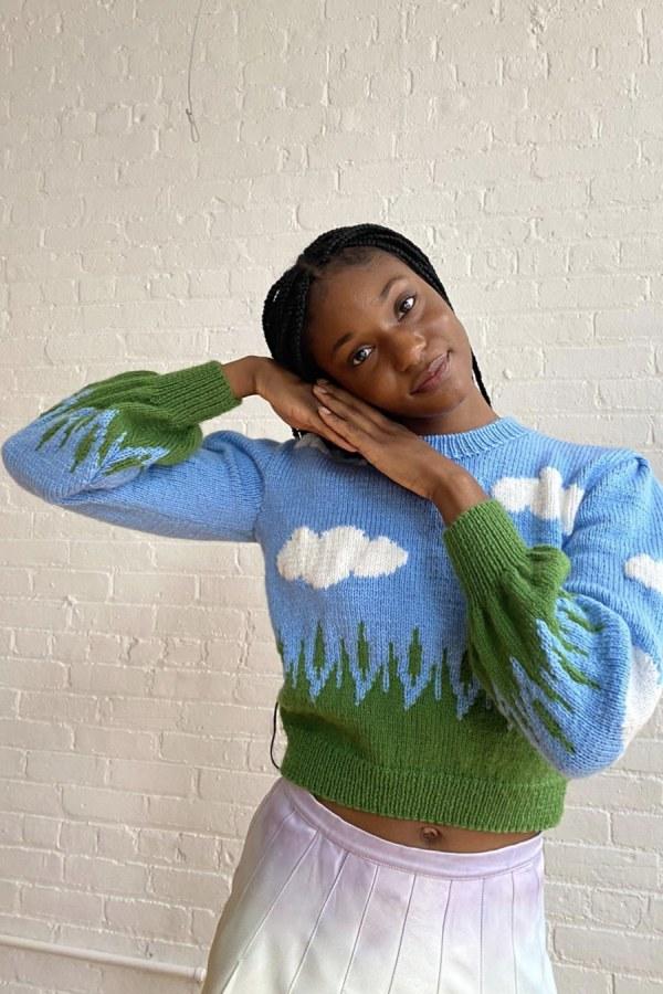 Image 3 of Lirika Matoshi clouds knit sweater