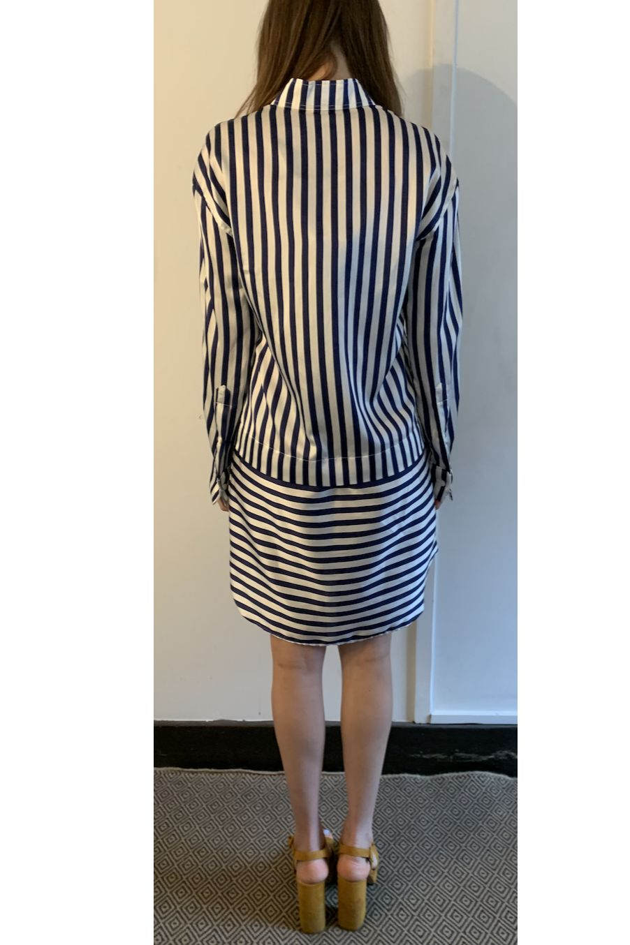 Burberry Stripped Shirt Dress 2 Preview Images