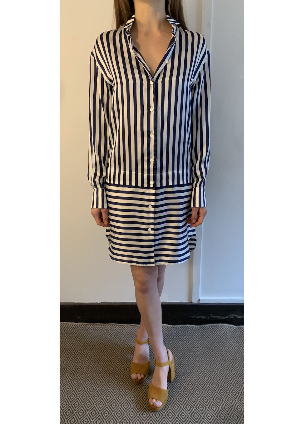 Burberry Stripped Shirt Dress 4 Preview Images