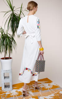 RIXO London Olivia Floral Embroidery dress 2 Preview Images