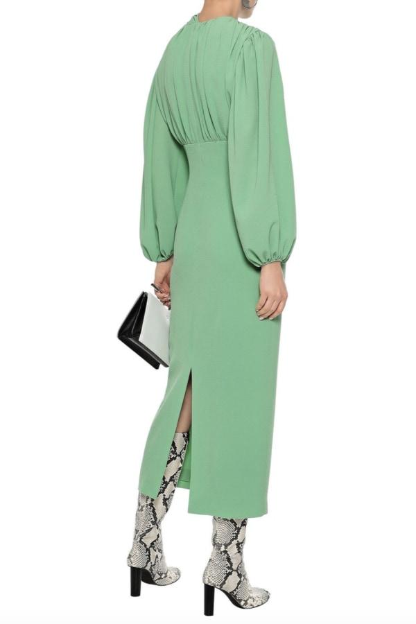 Image 3 of Emilia Wickstead gathered stretch-crepe dress