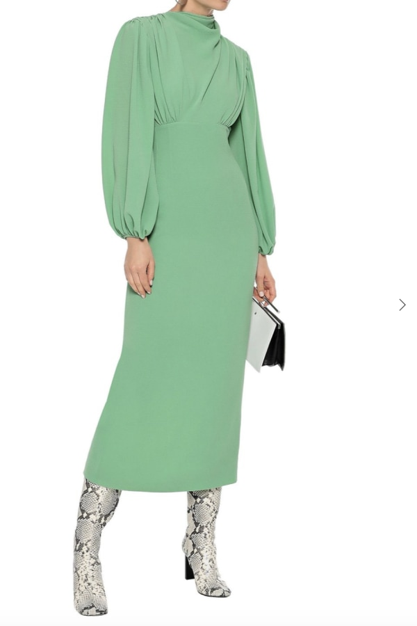 Image 2 of Emilia Wickstead gathered stretch-crepe dress