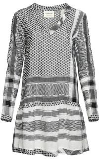 Cecilie Copenhagen DRESS 2, V, LONG SLEEVES, BLACK & WHITE Preview Images