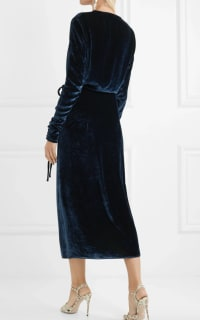 The Attico Midnight crushed velvet dress 4 Preview Images