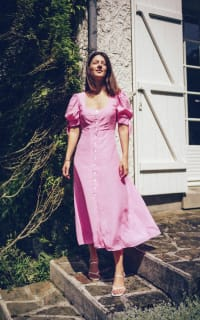 Kitri Lenora Pink Midi Dress 2 Preview Images
