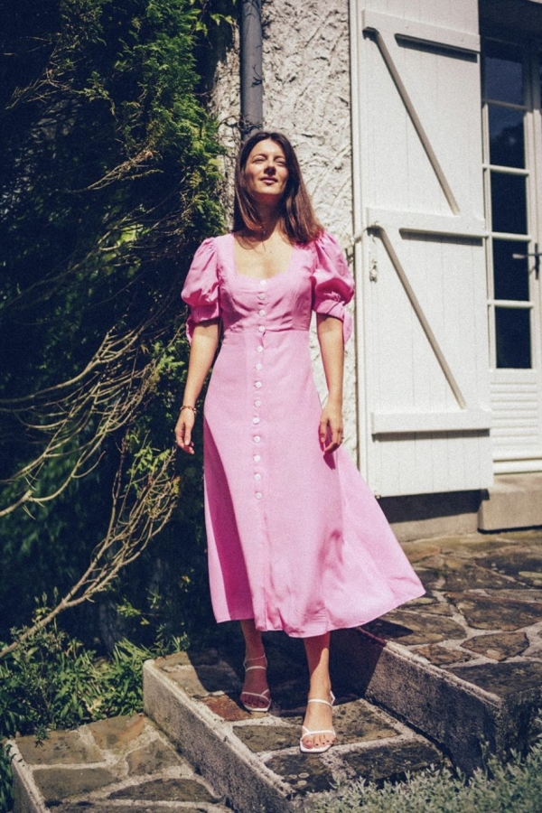 Kitri Lenora Pink Midi Dress 2