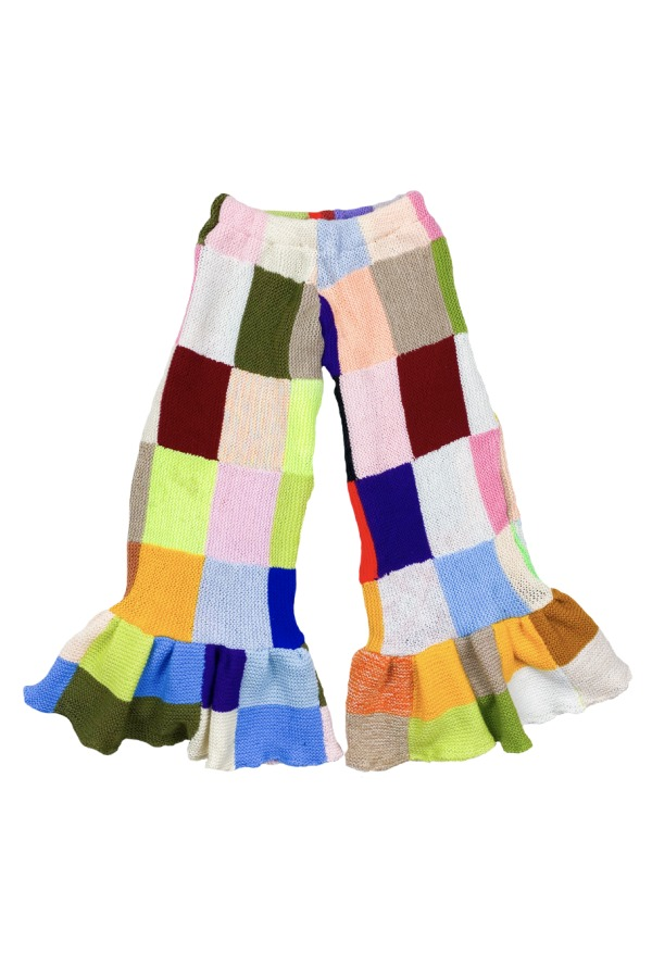 Image 1 of Magpie Vintage crochet patchwork trousers