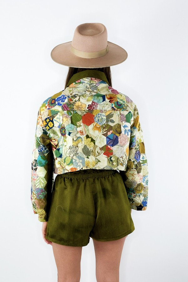 Image 4 of Magpie Vintage raw silk shorts