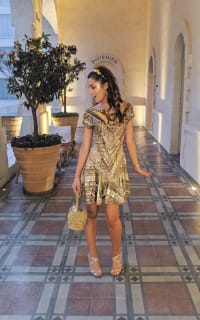 Matthew Williamson Embellished Dress in Gold 2 Preview Images