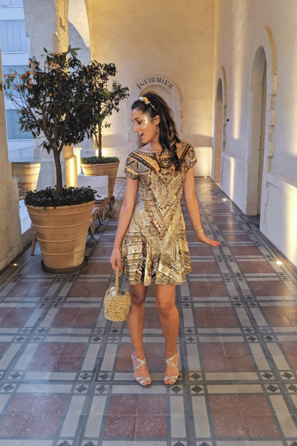 Matthew Williamson Embellished Dress in Gold 2