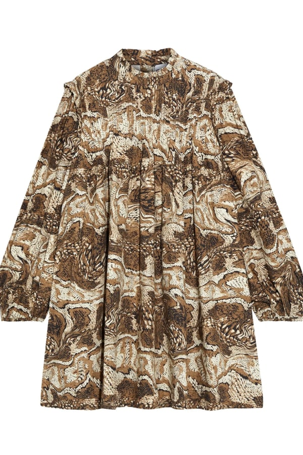 Image 1 of Ganni cotton poplin mini dress
