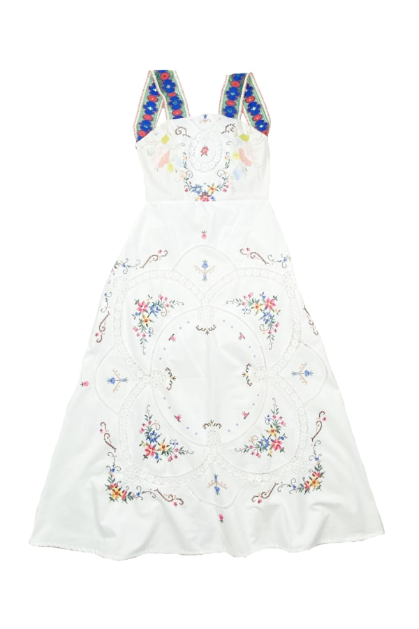 Image 1 of Magpie Vintage linen backless midi dress