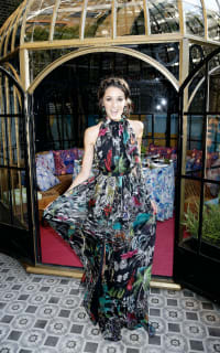 Matthew Williamson Midnight Jungle Silk Gown 5 Preview Images