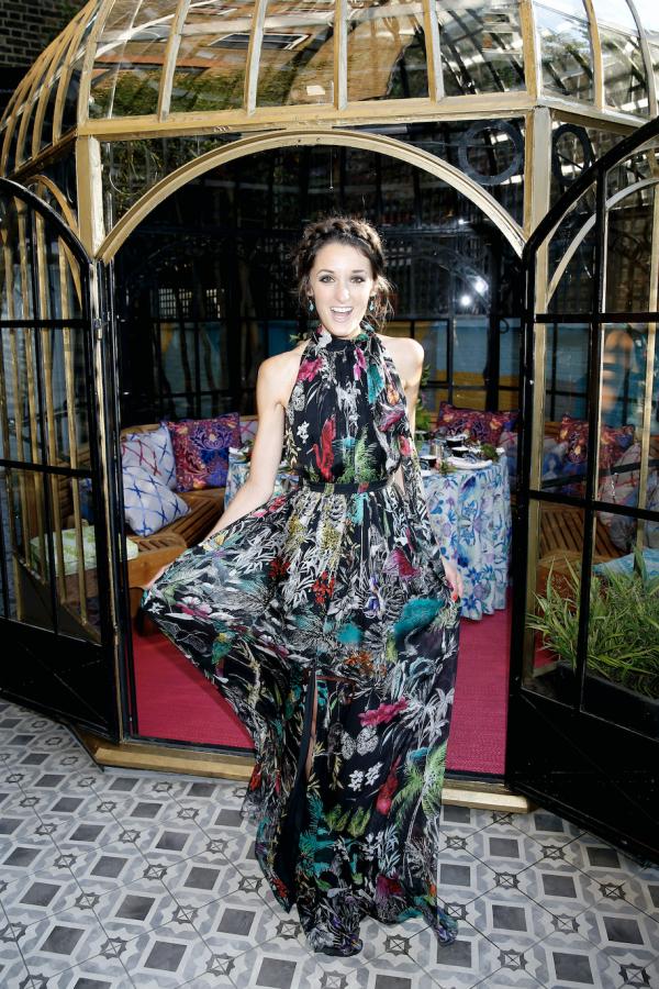 Matthew Williamson Midnight Jungle Silk Gown 5