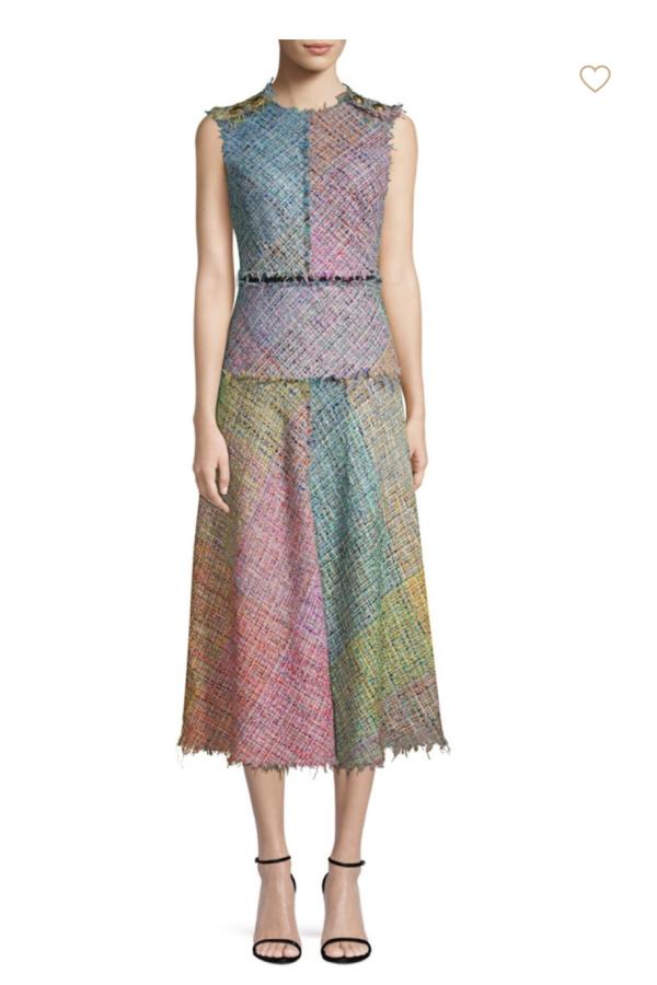 Escada Dalira Multicolor Tweed Midi Dress 5