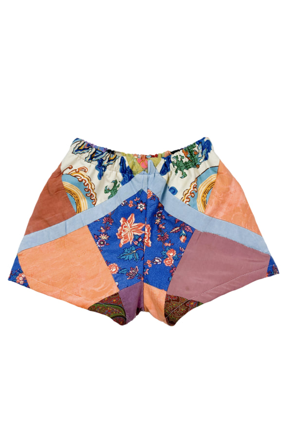 Image 1 of Magpie Vintage 1950s patchwork shorts