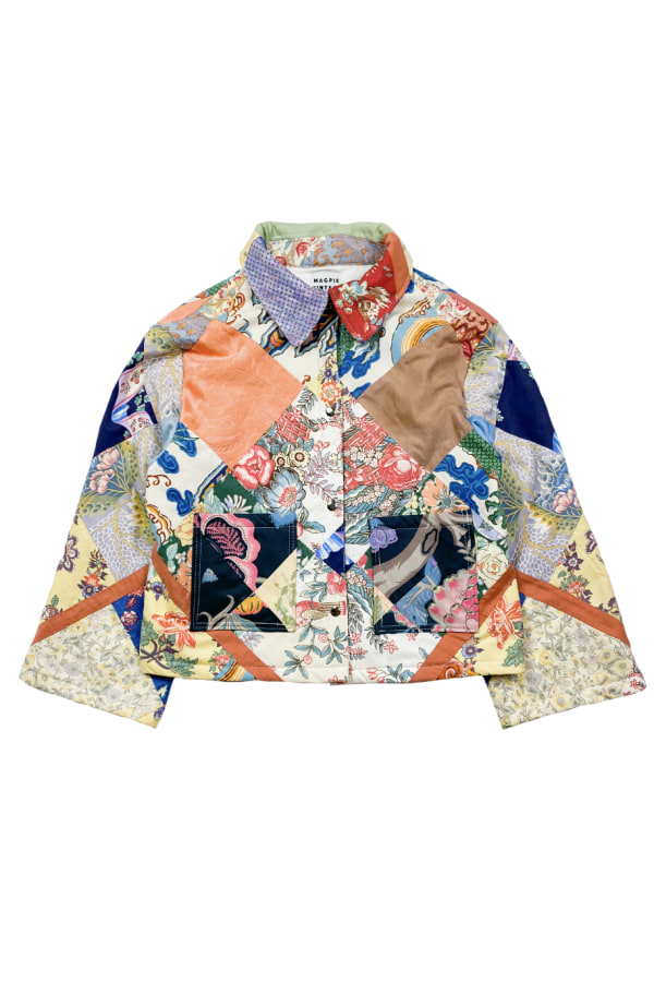 Image 1 of Magpie Vintage 1950s patchwork jacket